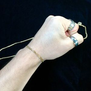 Other - MICRO CUBAN LINK BRACELET 18K GOLD MADE IN ITALY